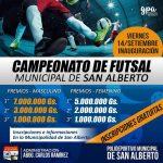 Segundo campeonato municipal de futsal de San Alberto.#InscripcionesGratuitas!!