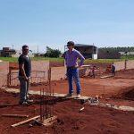 Verificación de la construcción de la futura sede del Estadio Municipal.