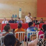 Reunión con los beneficiarios del Programa Tekoporã