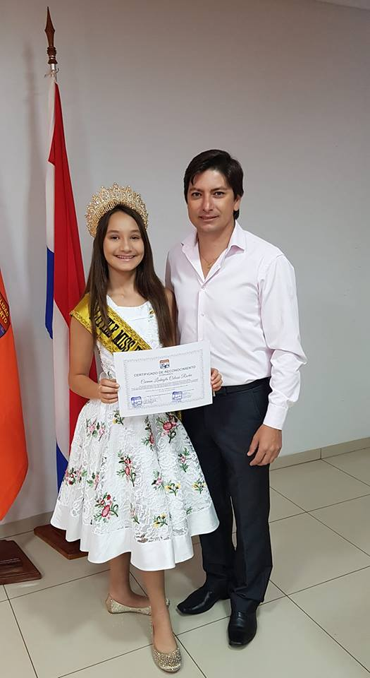Gratitud y Reconocimiento a CARMEN LUDMYLA COLOSSI ROCHA, por su dedicación y esfuerzo por llevar en alto el Municipio de San Alberto, en las competencias Nacionales e internacionales.