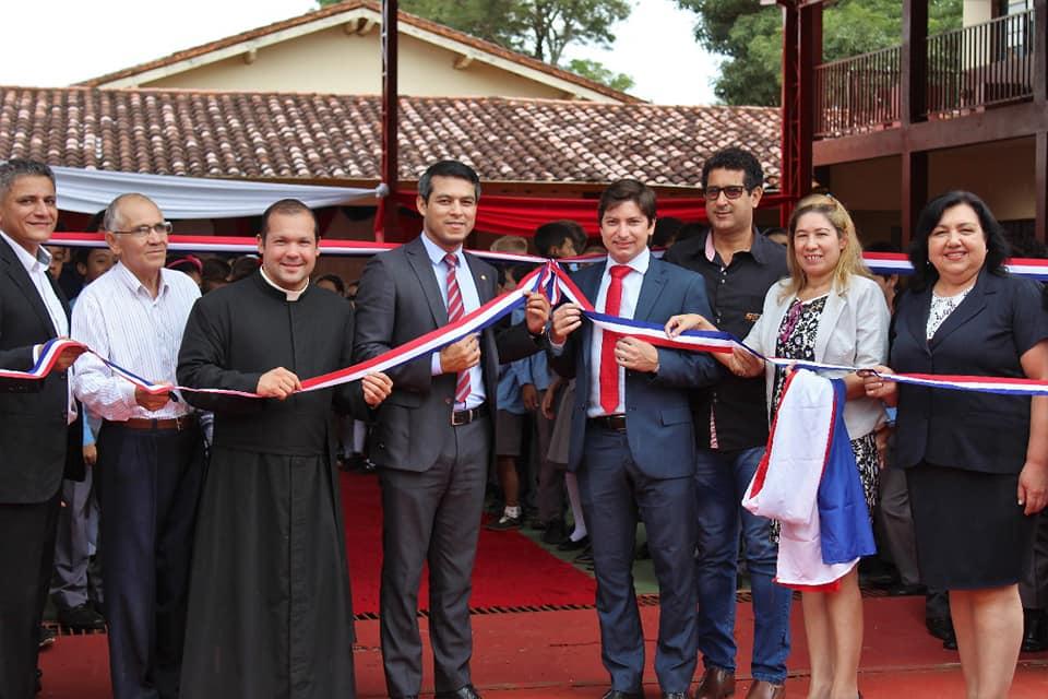 Inauguración de tinglado en la Escuela San Alberto Magno.
