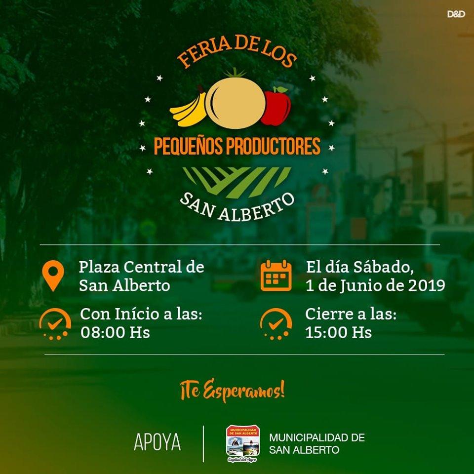 Primera feria de pequeños productores San Alberto.