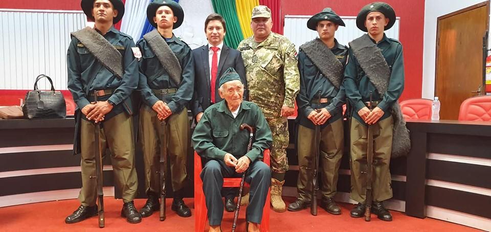 Acto de reconocimiento y gratitud al ex combatiente JUAN BAUTISTA CANTERO